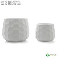 Small Honeycomb Pot Set of 2