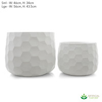 Large Honeycomb Pot Set of 2
