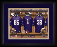 Washington Huskies Football Locker Room Print - Personalized NCAA-LRP-UWA