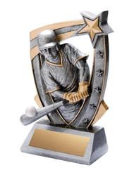 Baseball 3-D Star Resin Trophy