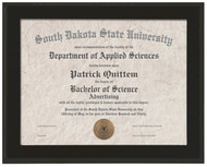 Certificate Holder / Frame - Matte Black Finish