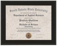 Certificate Holder / Frame - Matte Black Finish