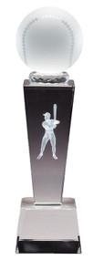 Baseball Crystal Collegiate Series Trophy
