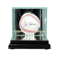 Single Baseball Glass Display Case - Black Trim