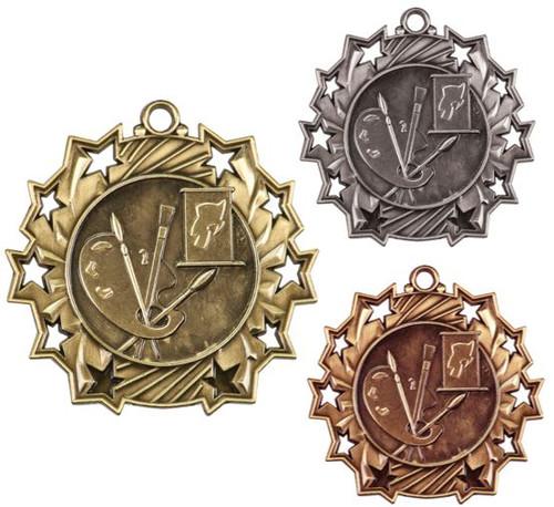 Art Ten Star Medal - Gold, Silver & Bronze