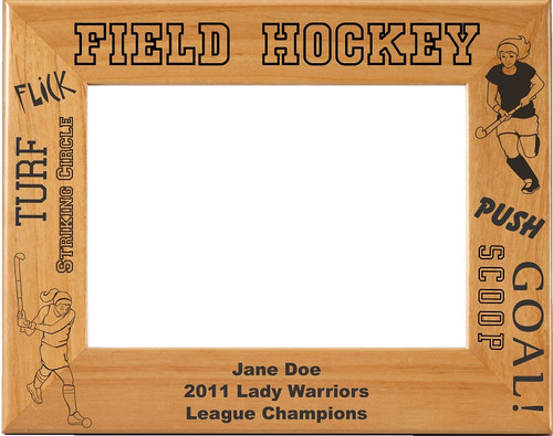 Laser Engraved Horizontal Field Hockey Picture Frame - Personalized ...