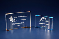 Crescent Acrylic Award - Blue / Gold CRES-TAC