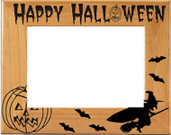 "Halloween ""Witch"" Picture Frame - Personalized"