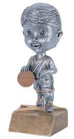 Pewter Basketball Bobblehead Trophy - Female