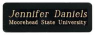 Plate /  Name Badge - Black Brass