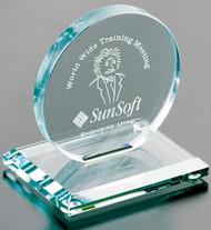 "Cromwell Circle Crystal Corporate Award - Small 4"" Dia."