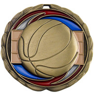 Gold Basketball Epoxy Medal