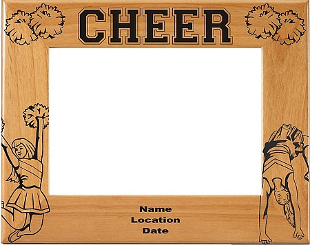 Laser Engraved Cheer Picture Frame | Personalized Cheerleader Photo ...