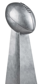 Silver Tower Football Trophy