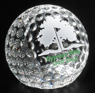 Clipped Crystal Golf Ball Corporate Award / Gift