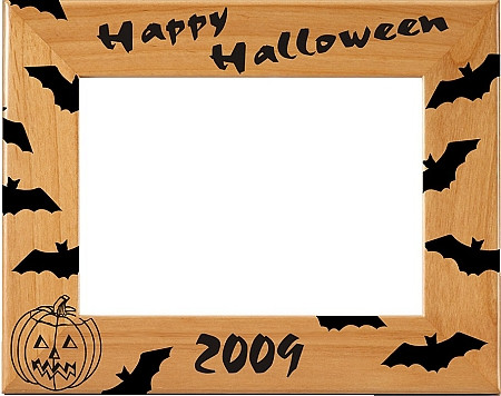 "Halloween ""Bats"" Picture Frame - Annual 