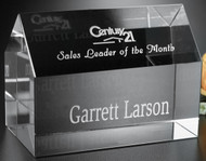 Residence House Crystal Paperweight / Corporate Award 5 Piece Minimum Purchase