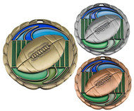 Football Color Epoxy Medal - Gold, Silver & Bronze