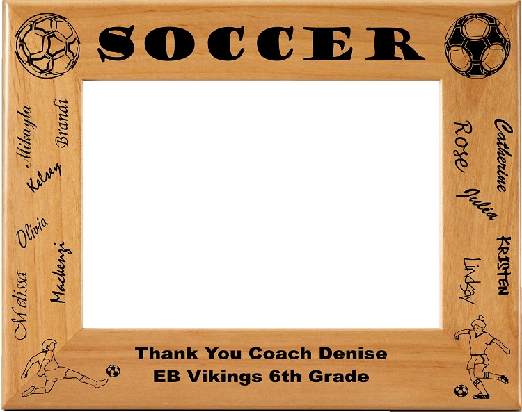 Laser Engraved Signed Soccer Picture Frame | Personalized Soccer ...
