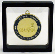 "Challenge Coin / Medal Illusion Presentation Box - 3.5"" Black"