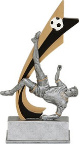 Soccer Signature Series Live Action Resin Trophy - Male / Female 82515GS