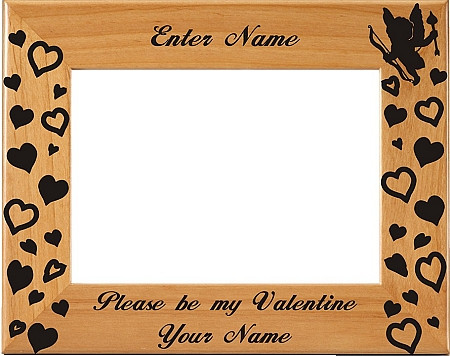 Personalized Laser Engraved Be My Valentine Picture Frame
