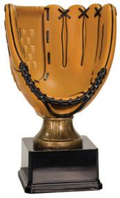 Full Size Color Glove Resin Trophy - Black Square Base