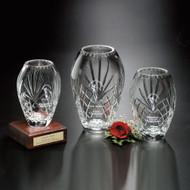 Durham Barrel Vase Crystal Award - 3 sizes