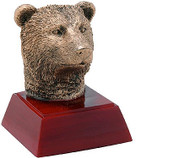 Sculptured Bear Mascot Trophy