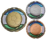 Soccer Color Epoxy Medal - Gold, Silver & Bronze
