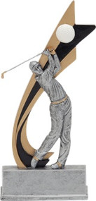 Signature Series Golf Live Action Resin Trophy - Male