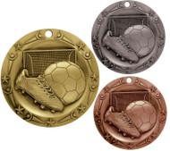 Soccer World Class Medal - Gold, Silver & Bronze