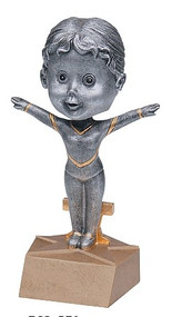 Pewter Gymnast Bobblehead Trophy