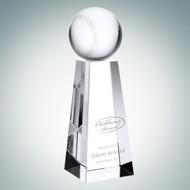 Crystal Baseball Tower Trophy