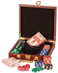 Poker Set 100 Chip - Rosewood Finish PKR01