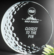 "Burnhaven Crystal Golf Award - Small 5"" Dia."
