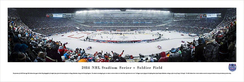 2014 NHL Stadium Series Panorama Print - Unframed