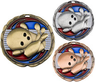 Bowling Color Epoxy Medal - Gold, Silver & Bronze