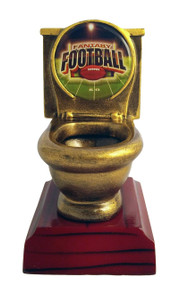 Fantasy Football Toilet Bowl Trophy | FFL Loser Award | 5 Inch Tall