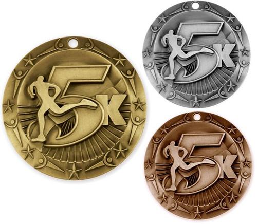 5K World Class Medal - Gold, Silver & Bronze