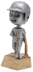 Pewter Baseball Bobblehead Trophy