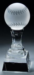Crystal Baseball Trophy