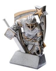 Hockey Goalie 3-D Star Resin Trophy