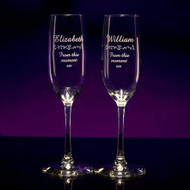 Champagne Tall Flutes - Personalized