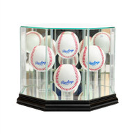 4 Ball Baseball Display Case - Black Trim