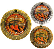 Chili Cook-Off World Class Medal - Gold, Silver & Bronze | Chili Competition Award | 3 Inch Wide