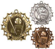 Baseball Ten Star Medal - Gold, Silver & Bronze | Little League 10 Star Award | 2.25 Inch Wide