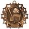 Baseball Ten Star Medal - Gold, Silver & Bronze | Little League 10 Star Award | 2.25 Inch Wide Baseball Ten Star Medal - Bronze
