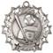 Baseball Ten Star Medal - Gold, Silver & Bronze | Little League 10 Star Award | 2.25 Inch Wide Baseball Ten Star Medal - Silver