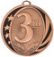 1st, 2nd & 3rd Place MidNite Star Medals - Gold, Silver & Bronze | Place Award | 2 Inch Wide3 3rd Place MidNite Star Medal - Bronze
